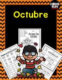 October packet in Spanish; Paquete de matemáticas y lectura para octubre