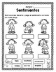 Paquete de sentimientos o emociones/ Feelings packet in Spanish