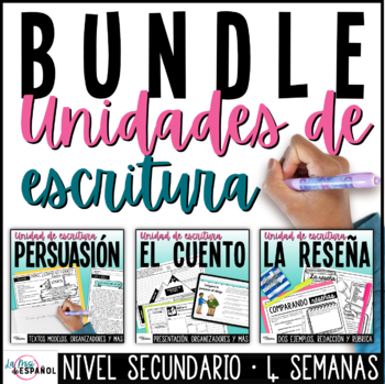 Paquete de unidades de escritura | Spanish Writing Bundle