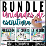 Escritura Narrativa Persuasiva y Reseña   Spanish Writing Bundle