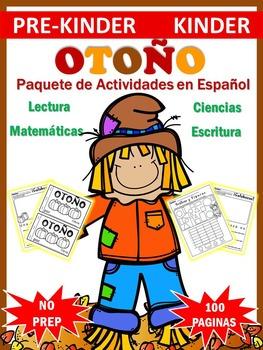 Paquete en Español con Actividades de Otoño