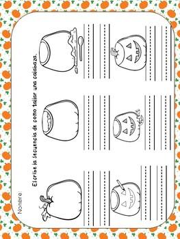Fall Spanish Packet- Paquete para el otoño