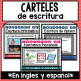 Paqueton de carteles de escritura en ingles y espanol