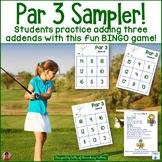 Adding 3 Addends: Golf Themed BINGO Game Freebie