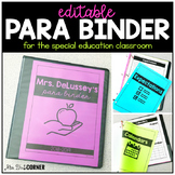 Para Binder for the Special Education Classroom | Paraprof
