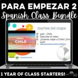 Para Empezar: 1 Year of Spanish Bell Ringers or Brain Breaks Bundle #2