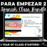 Para Empezar: 1 Year of Spanish Bell Ringers or Brain Breaks Bundle #2