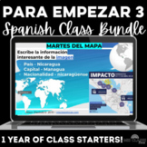 Para Empezar: 1 Year of Spanish Bell Ringers or Brain Breaks Bundle #3