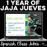 Para Empezar: 1 year of Jaja jueves - bell ringer or brain break for Spanish