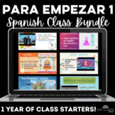 Para Empezar: 1 year of Spanish Bell Ringers Bundle
