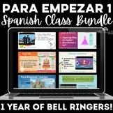 Para Empezar: 1 year of Spanish Bell Ringers Bundle