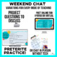 Para Empezar: Weekend Chat for Spanish class - mix up weekend talk