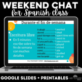 Para Empezar: Weekend Chat for Spanish class - mix up week