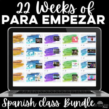 Para Empezar: 22 Weeks of Spanish Bell Ringers or Brain Breaks