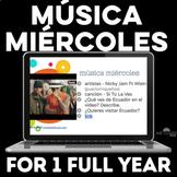 Para Empezar: Música miércoles - 1 full year of music for Spanish class