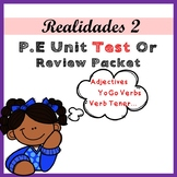 Realidades 2 Para Empezar Unit / Ch PE Test Or Review Packet