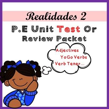 Para Empezar Unit Quiz / Test - Realidades 2
