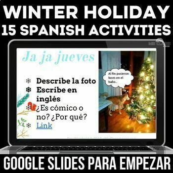 Para Empezar - Winter Holidays in Spanish class (navidad)