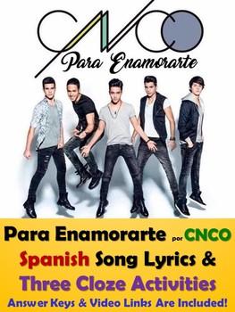 Para Enamorarte Song Lyrics & Activities in Spanish - CNCO Musica