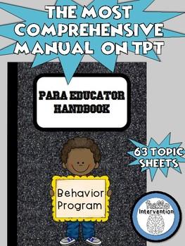 Para Handbook for Behavior Program