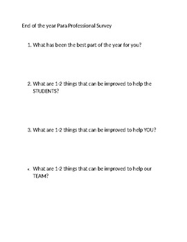 Para Pro Survey