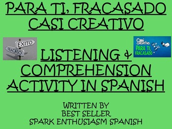 Inspirational Funny Spanish Video Activity - Success Requires Hard Work!
