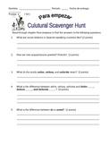 Para empezar Cultural Scavenger Hunt