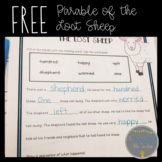 Parable of The Lost Sheep Free Activity