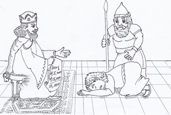 Parable of he Merciful King and the Wicked Servant Bible lesson