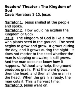 Parable of the Mustard Seed- Mark 4: 26-34 Activity Packet