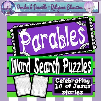 Parables ~ Word Search Puzzles: Zacchaeus, Lost Sheep, Goo