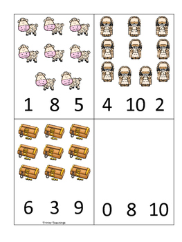 Parables in the Bible Count and Clip printable game. Preschool Bible