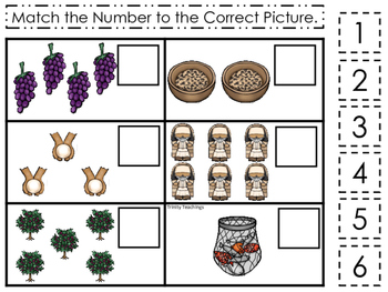 Parables in the Bible Match the Number printable game. Preschool Bible Study Cur