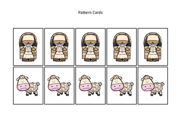 Parables in the Bible Pattern Cards printable game. Preschool Bible
