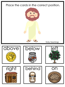 Parables in the Bible Positional Game printable game. Pres