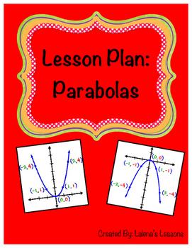 Parabola Lesson Plan