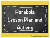 Parabola Lesson Plan and Worksheet