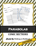 Parabolas : Conic Sections (Notes, Review, Group Work) - C