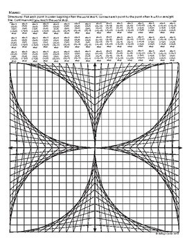 Parabolic Curve Graph Art Activity Version 3