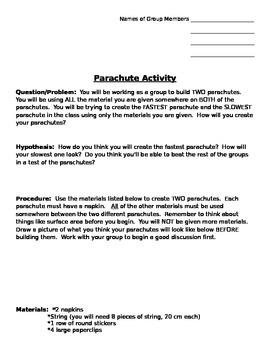 Parachute Activity
