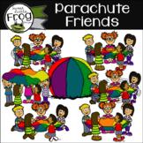 Parachute Friends Clip Art