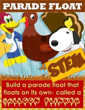 Parade Float Balloon Flinker STEM- Thanksgiving Activity