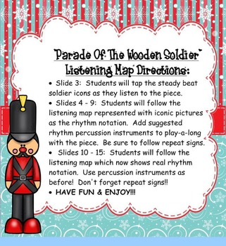 Parade of Wooden Soldier Listening Map/Play-a-Long/Color Sheet- PDF Ed.