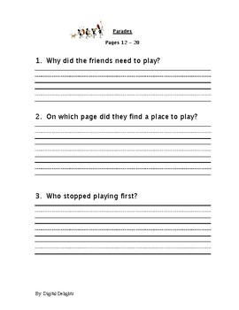 Parades Houghton Mifflin Harcourt Reading Comprehension Questions