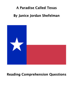 Paradise Called Texas Reading Comprehension Questions
