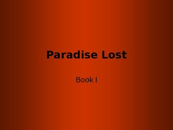 Paradise Lost, Book I
