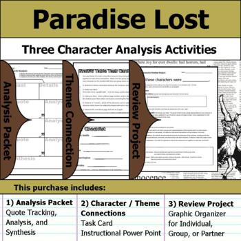 Paradise Lost - Character Analysis Packet, Theme Connections, & Project