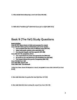 Paradise Lost Study Guide (Books Four, Nine, and Twelve)