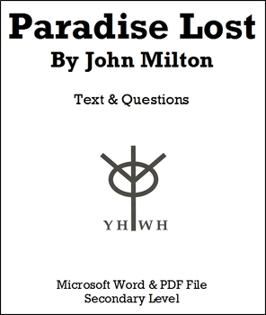 Paradise Lost Text and Questions