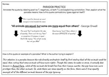Paradox Practice Cards